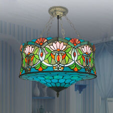 Tiffany Splendid Handcrafted Baroque Stained Glass Chandelier Ceiling Light