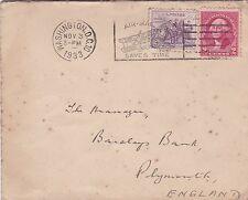 Stati UNITI 1933 Washington DC in Inghilterra COVER Airmail consente di risparmiare tempo slogan GC D