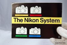Nikon Camera System accessory brochure booklet Guide Genuine (EN) F3 FM FE EM