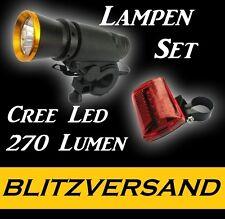 5W CREE LED Fahrradlampe inkl. Rücklicht 270lm Fahrrad Licht Taschenlampe