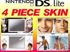 nintendo DS Lite - ZAC EFRON - 4 Piece Decal / Sticker Skin