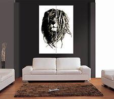 Leone rasta con dreadlocks GIGANTE Wall Art Print PICTURE POSTER