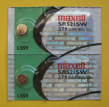 2 Maxell 379 SR521SW Silver Oxide Watch Batteries 1.55V