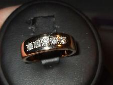 14k Yellow Gold .25ct 5 stone Transitional Cut Diamond Band