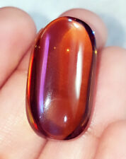 31.65 Ct Loose Gemstone Lab-Created Golden&Black Opal Translucent Australia eBay