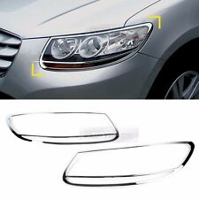 Chrome Front Head Lamp Molding Trim Garnish Cover for HYUNDAI 2006-2012 Santa Fe