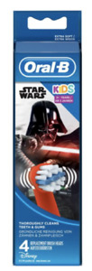 Oral B Kids Replacement Toothbrush Heads Featuring Star Wars Characters 4 pack