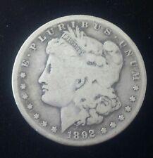Authentic US Morgan Silver Dollar 1892-S ( Morgan 1878-1921)