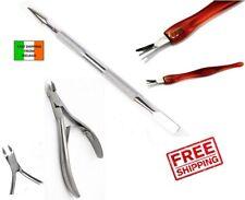3pcs Professional Nail Cuticle  Nipper Clipper Trimmer Pusher Dual Set Manicure