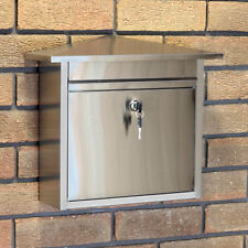 Stainless Steel Lockable Mailbox/Postbox Outdoor Home Mail/Post/Letter Box Large