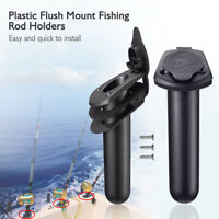AU_ Flush Mount Fishing Boat Rod Holder Bracket Stand with Cap Cover for Kayak H