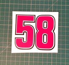 58 marco simoncelli vinyl sticker -decal,laptop,car,mug,glass,racing,motor gp