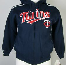 Minnesota Twins Men's Thermal Navy Blue Stitches Full-Zip Hoodie MLB M-2XL