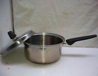 Regal Ware Cookware 3 Ply Stainless 3 Qt Saucepan Saute Fry Pot Casserole Lid