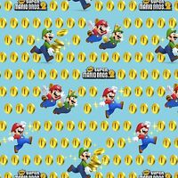 Nintendo Super Mario 2 Coins Toss 100% cotton Fabric by the yard