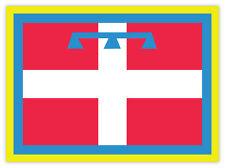 Piemonte regione bandiera Italy Italia etichetta sticker 15cm x 10cm