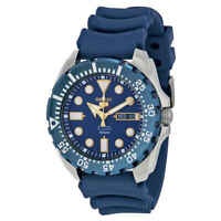 Seiko Diver Automatic Blue Dial Blue Rubber Men's Watch SRP605K2
