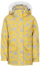 Trespass Tillie Girls Ski Jacket Waterproof Insulated Coat Gold 5 - 6 Years