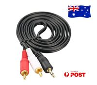 Premium Stereo Audio 3.5mm Aux Jack to 2 RCA M/M Cable Gold Plated 1.5M 5M ~ 20M