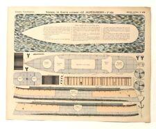 Imagerie D'Epinal No 430 Cuirassé Le Jauréguiberry/Grandes Constructions model