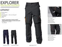 Pantalone da Lavoro Multitasche DPI Cargo Grigio Blu Tecnico Meccanico Uomo