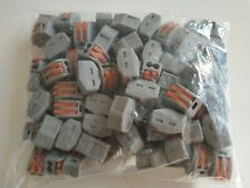 100 x WAGO (TYPE)  2 pin Quality Electrical Connectors  (CE approved)