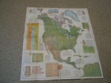 INDIANS OF NORTH AMERICA BEFORE COLUMBUS MAP National Geographic December 1972
