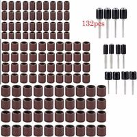 "132pcs 1/2"" 3/8"" Mixed Drum Mandrel& Sanding Drum Sleeves For Rotary Tool BE"