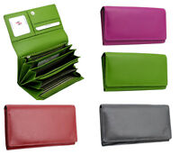 StarHide Women Luxury Real Leather Long Flap Over Purse Wallet Gift Boxed 5510