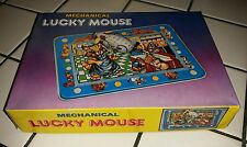MECHANICAL LUCKY MOUSE with box reproduction tin toy great condition 1980s