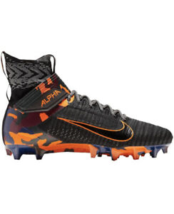 Nike Alpha Menace Elite 2 Men SZ 10 Football Cleats Black Orange Camo AV5357-002