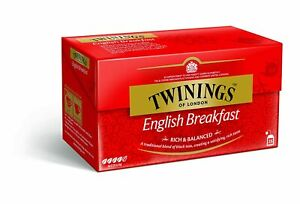 Twinings English Breakfast,Rich & Balanced,25 Teabags,Blend Of Black Tea,Medium