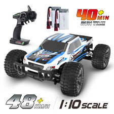 New ListingRc Cars 1:10 High Speed for Kids 48+ kmh 4Wd Monster Truck Toy with 2 Batteries