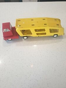 Vintage Tonka Car Carrier Truck and Trailer