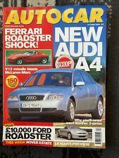 AUTOCAR Magazine - June 2000 - Audi A4, Ford KA Roadster