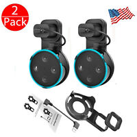 2Pcs Outlet Wall Mount Stand Holder Stand for Amazon Alexa Echo Dot 2 Generation
