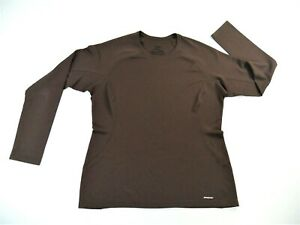 Patagonia Capilene Brown Long Sleeve Base Layer Womens Large
