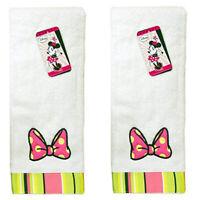 AUTHENTIC Disney Minnie Mouse Plush Cotton Hand Towel Bath Towel Franco (2 Pack)