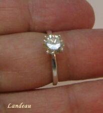 Diamond Silver Ring 1.04 ct White Yellow