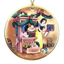 Disney Grolier Collectibles Snow White & Seven Dwarfs Disc Christmas Ornament
