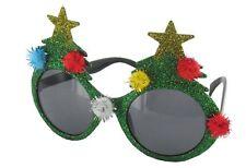 Novelty Christmas Tree Sunglasses Green