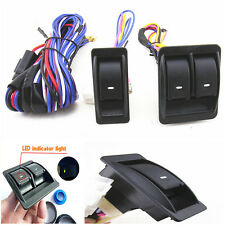12 V Universal Top Quality Power Window Motors Switch Kits Wiring Harness Parts