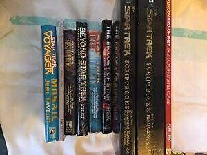 Rare Star Trek TNG VOY DS9 Episodes Script book Bundle & 8 Other Books