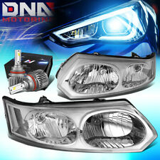 FOR 2003-2007 SATURN ION 4DR REPLACEMENT HEADLIGHT W/LED KIT SLIM STYLE CHROME