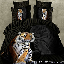 King Of Tiger Queen Size Bed Quilt/Doona/Duvet Cover Set Polyester Pillowcase