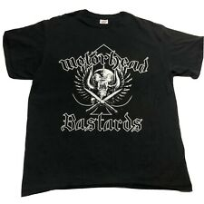 Motorhead Bastards Black Logo Front Graphic 2002 Band T Shirt Mens Size L