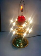 Double flickering diya with lights