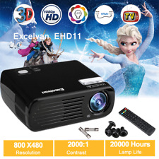 LED 4500 Lumens HD 1080P 3D Home Projector Theater USBHDMI Indoor Outdoor Movie