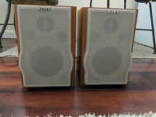 Sony SS-CEP707 Bookshelf Wood Speaker System Pair For CMT-EP707 Stereo