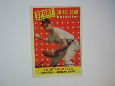 1958 Topps # 483 LUIS APARICIO Autograph Signed Card All Star Chicago White Sox